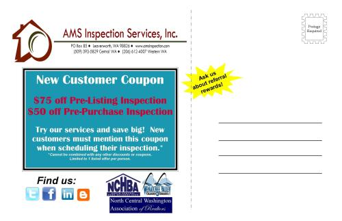 home inspection coupon wenatchee seattle